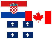 The flags of Croatia, Canada and Quebec