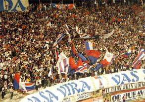 Torcida celebrating Hajduk's Premier League Championship win!